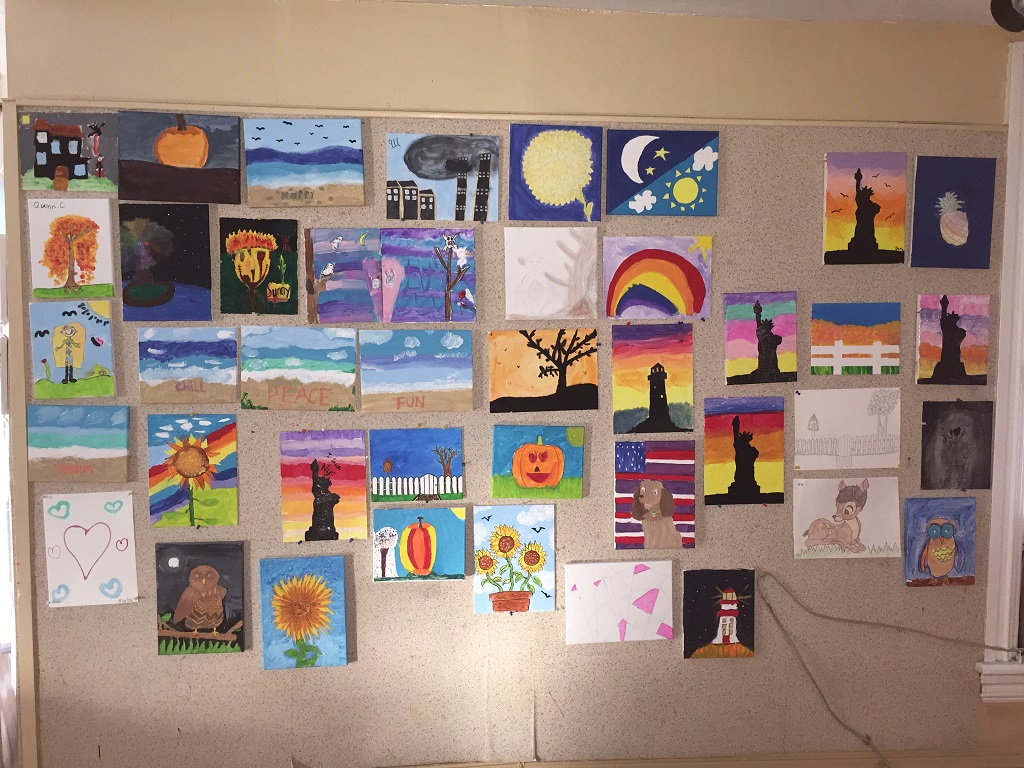 Alisons class paintings