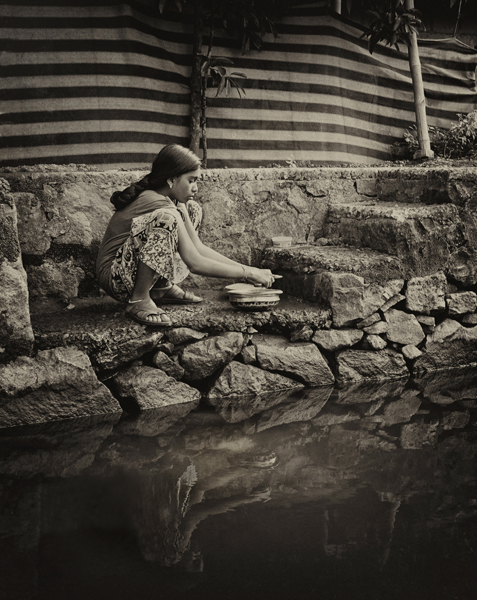 Lucille Rielly-Along the Canal, Kerala, India
