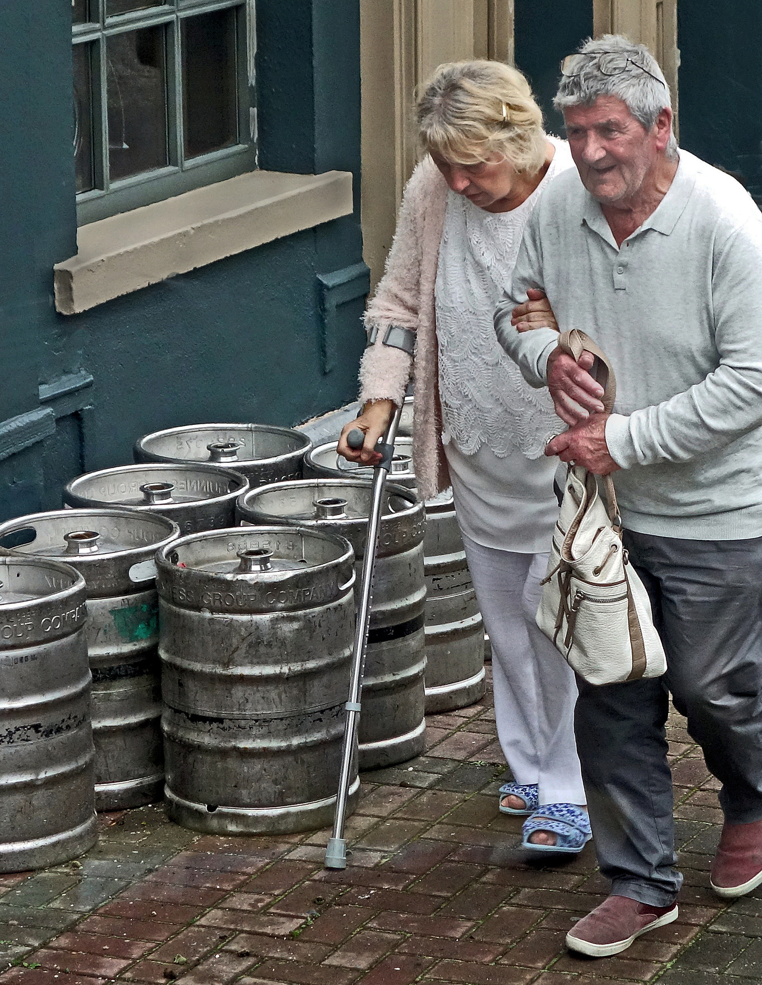 Jeff Heilbrun - Pensioners Passing the Pub