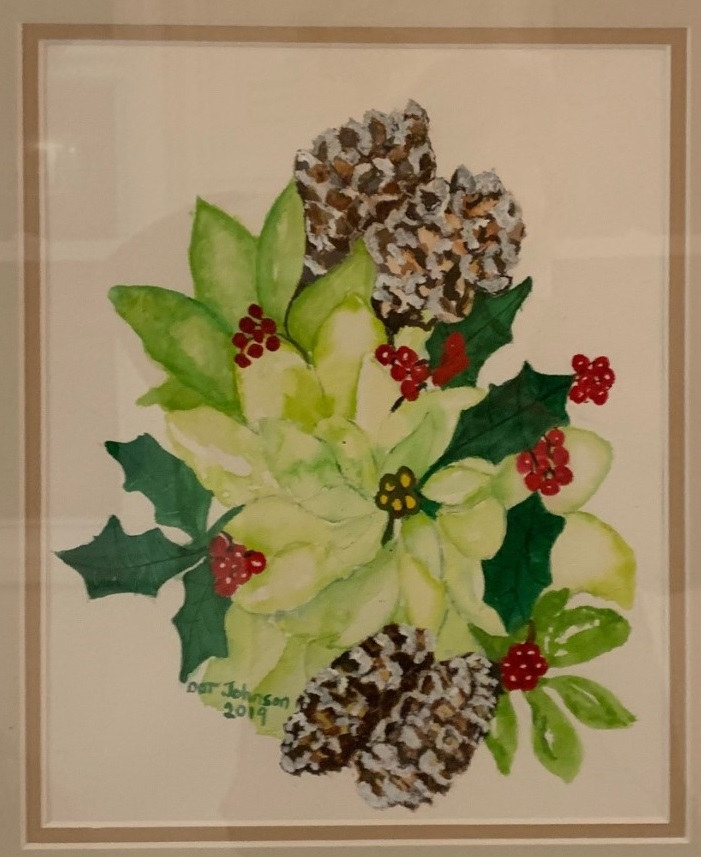 Dot Johnson-Pinecones and Holly Leaves