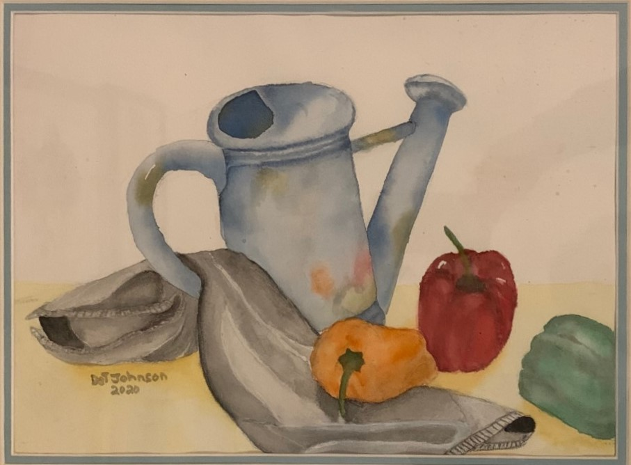 Dot Johnson-Watering Can, Cloth & Vegetables