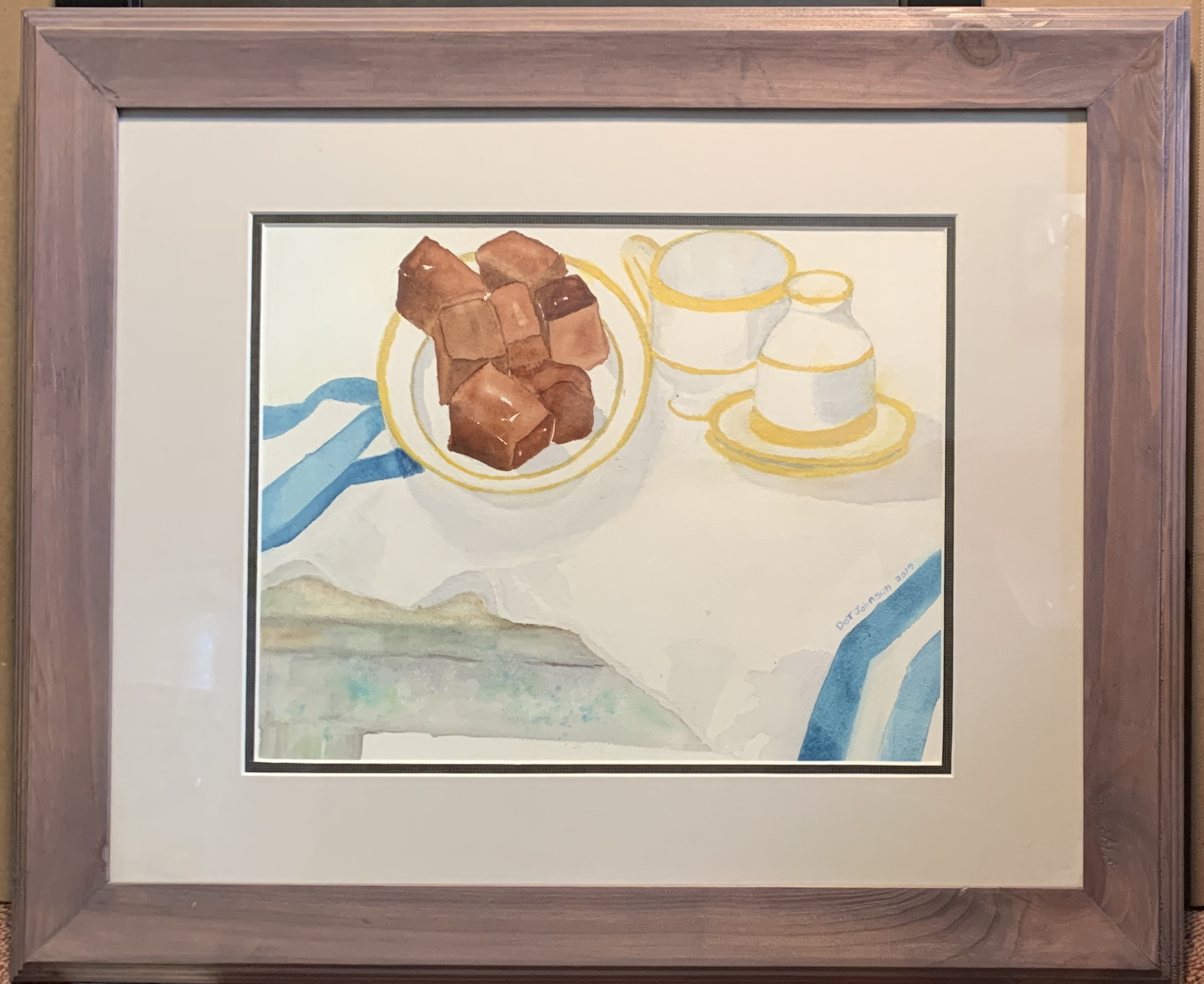 Dot Johnson-Brownies on the table