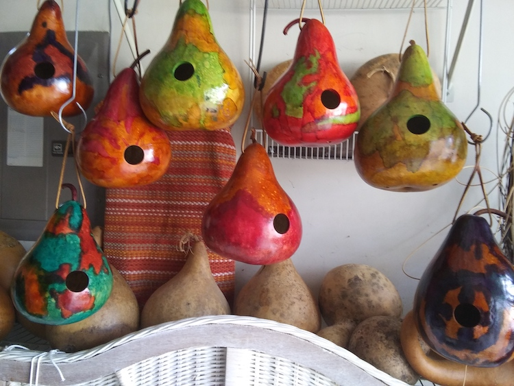 Marcie Falconetti-Leather Dyed Birdhouses